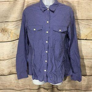 Purple Tweed Banana Republic Soft wash shirt Med